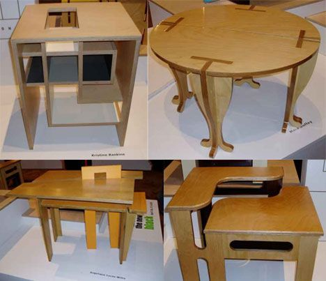 Flat pack 20 creative furniture designs for cramped for Flat pack muebles