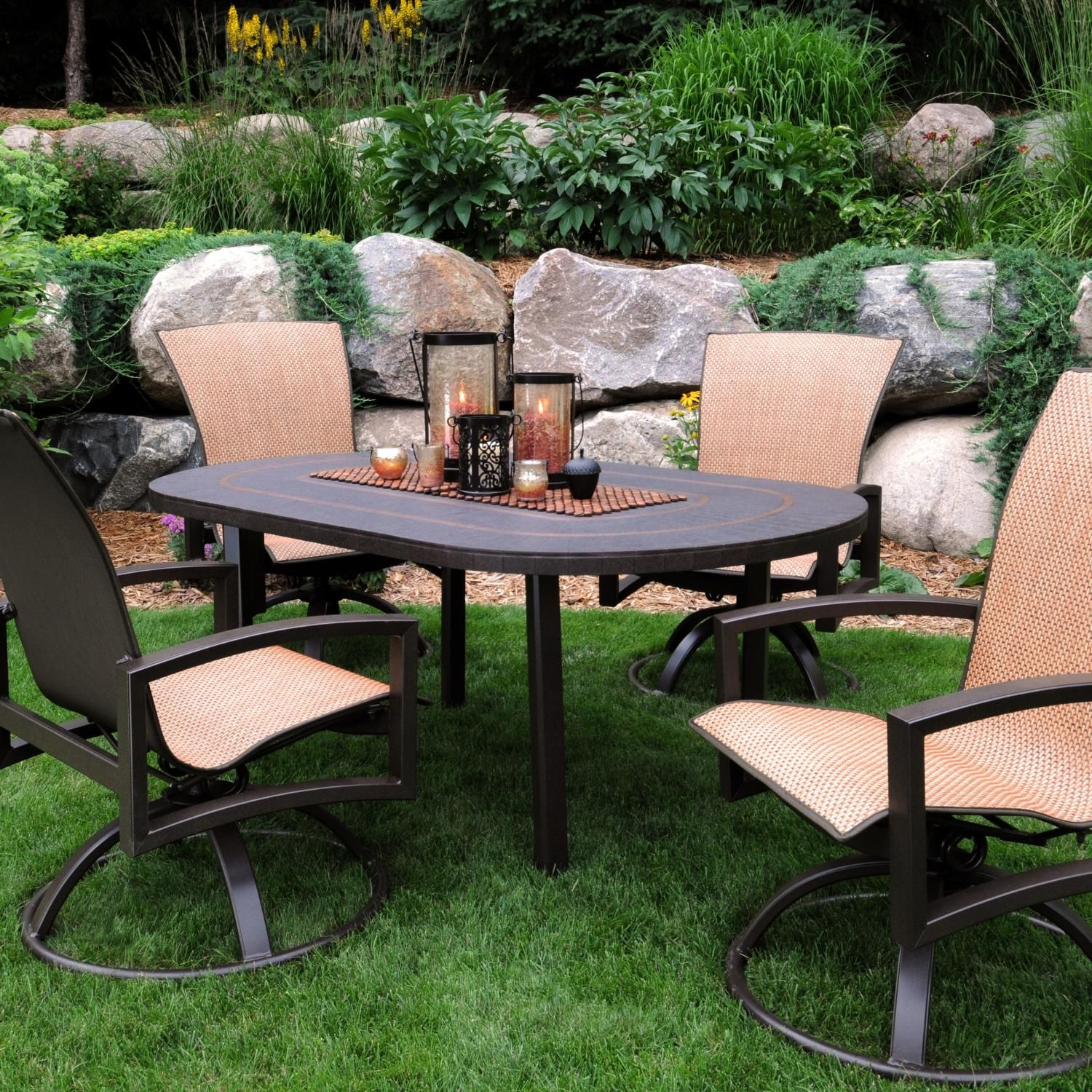 Homecrest Havenhill 5-Piece Sling Patio Dining Set With ...