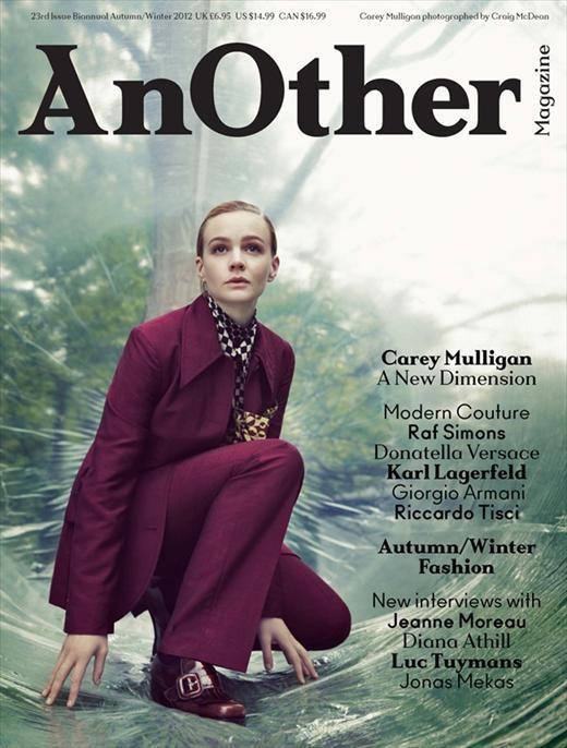 Carey Mulligan con un look andrógino en la portada de la revista AnOther