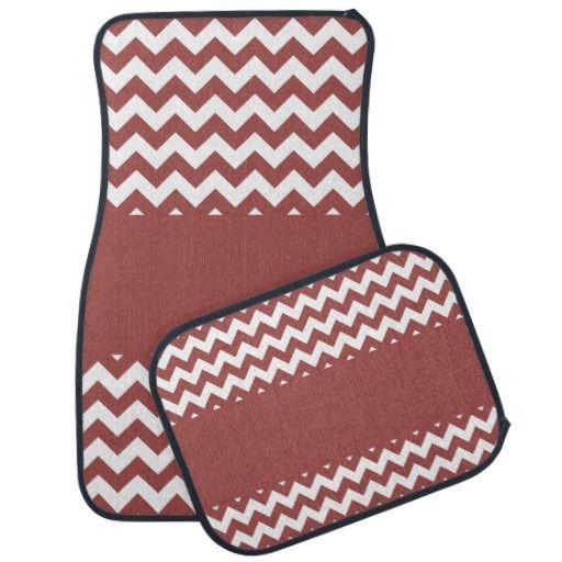 chevron car floor mats. Modren Mats Antique Red Chevron Car Floor Mat Intended Mats