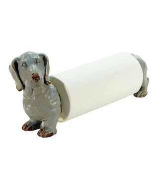 Dachshund Paper Towel Holder Pleasing Gray Dog Paper Towel Holder  All Things Dachshund  Pinterest Review