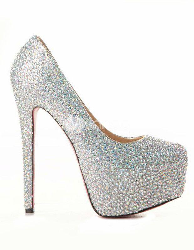 Rhinestone Beading High Heel Shoes. Peau De MoutonAigueBottesTalonsCadeaux  ...