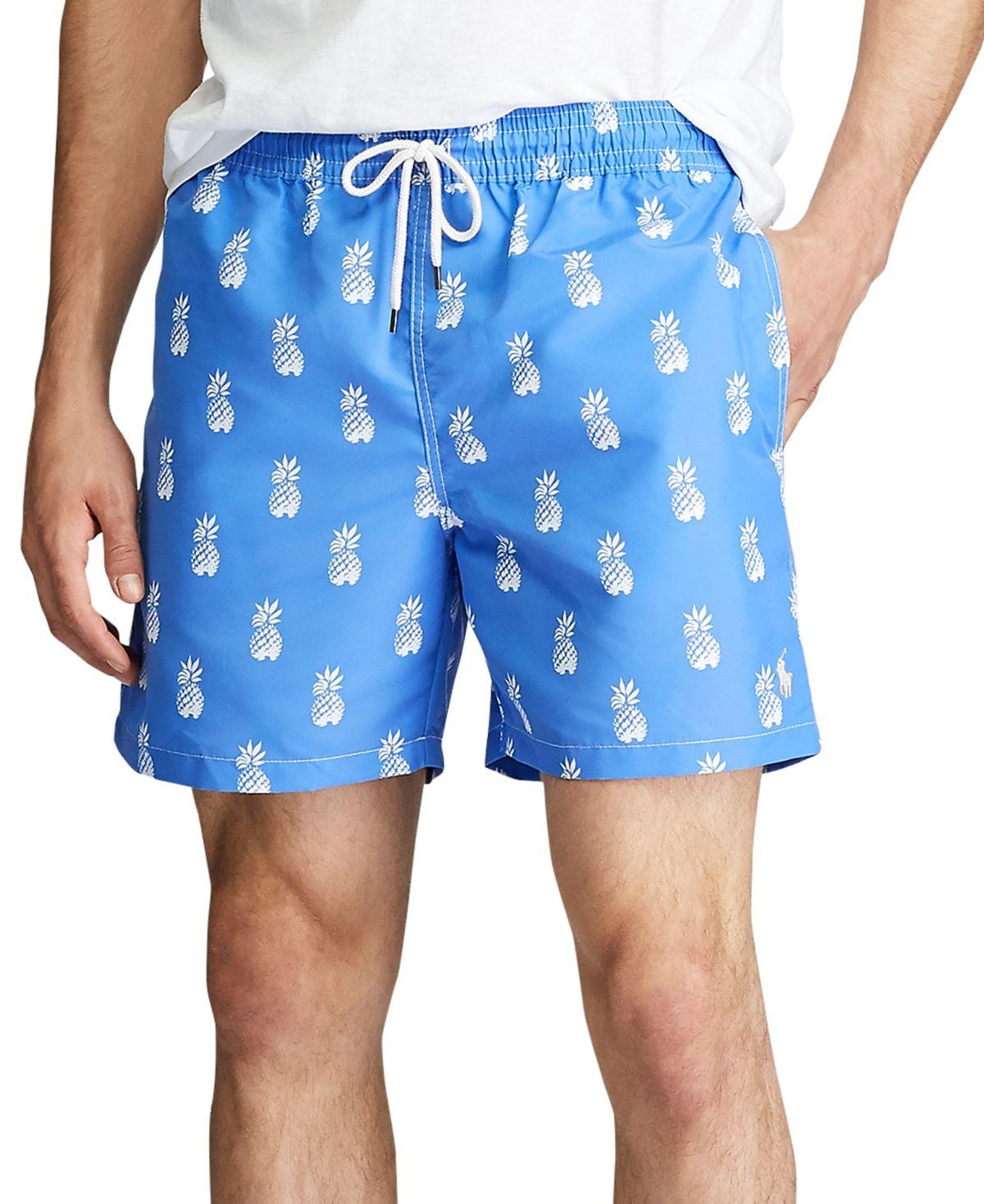 Polo Ralph Lauren Men S 5 5 Inch Traveler Swim Trunks Bathsheba Pineapples Polo Ralph Lauren Polo Ralph Lauren Mens Ralph Lauren Men