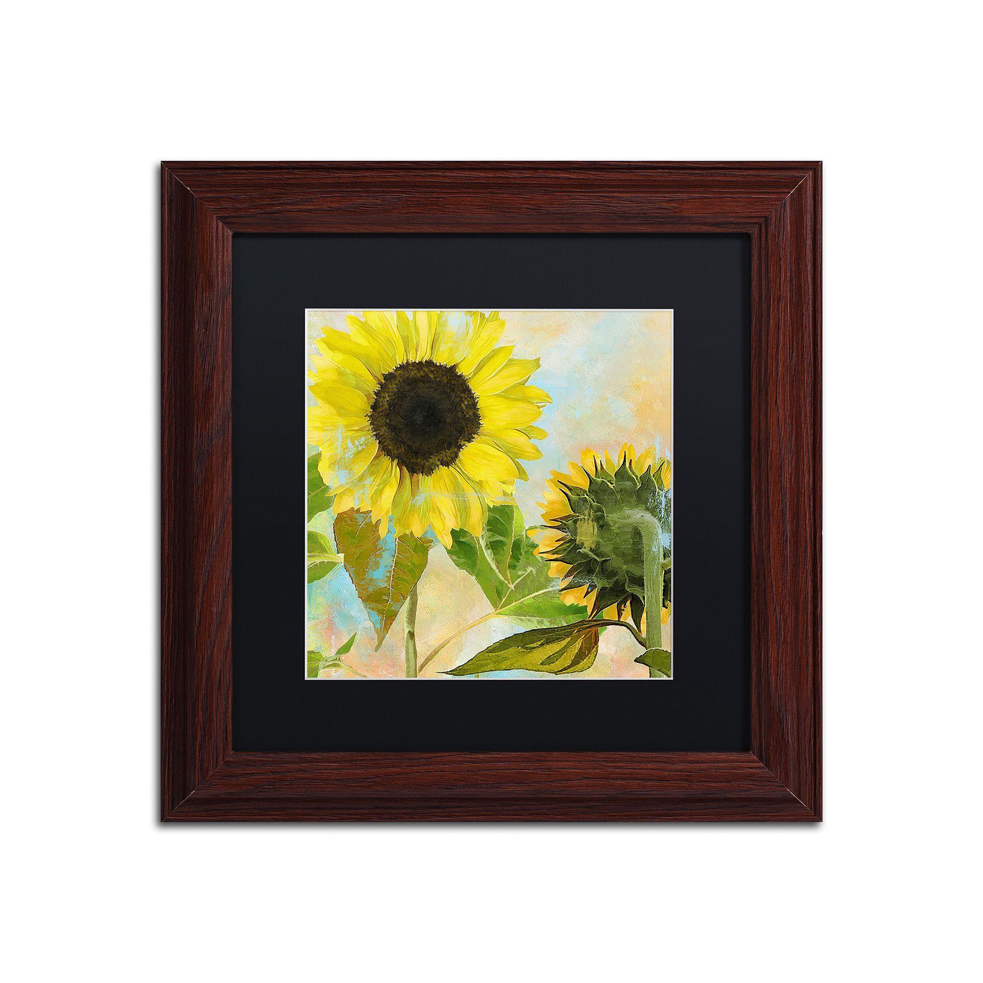 Trademark Fine Art Soleil I Framed Wall Art, Black | Framed wall art ...