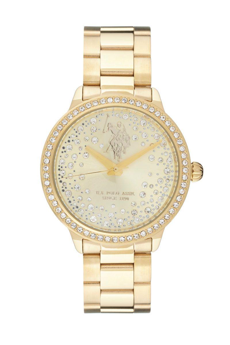 81ccbb81e98 Venda U.S. Polo   10704   Mulher   Folheado Ouro e Aço   Relógio Quartzo  Alta Precisão Folheado de Ouro e Aço