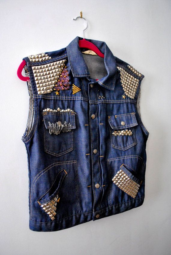cut off jean jacket vest | Gommap Blog