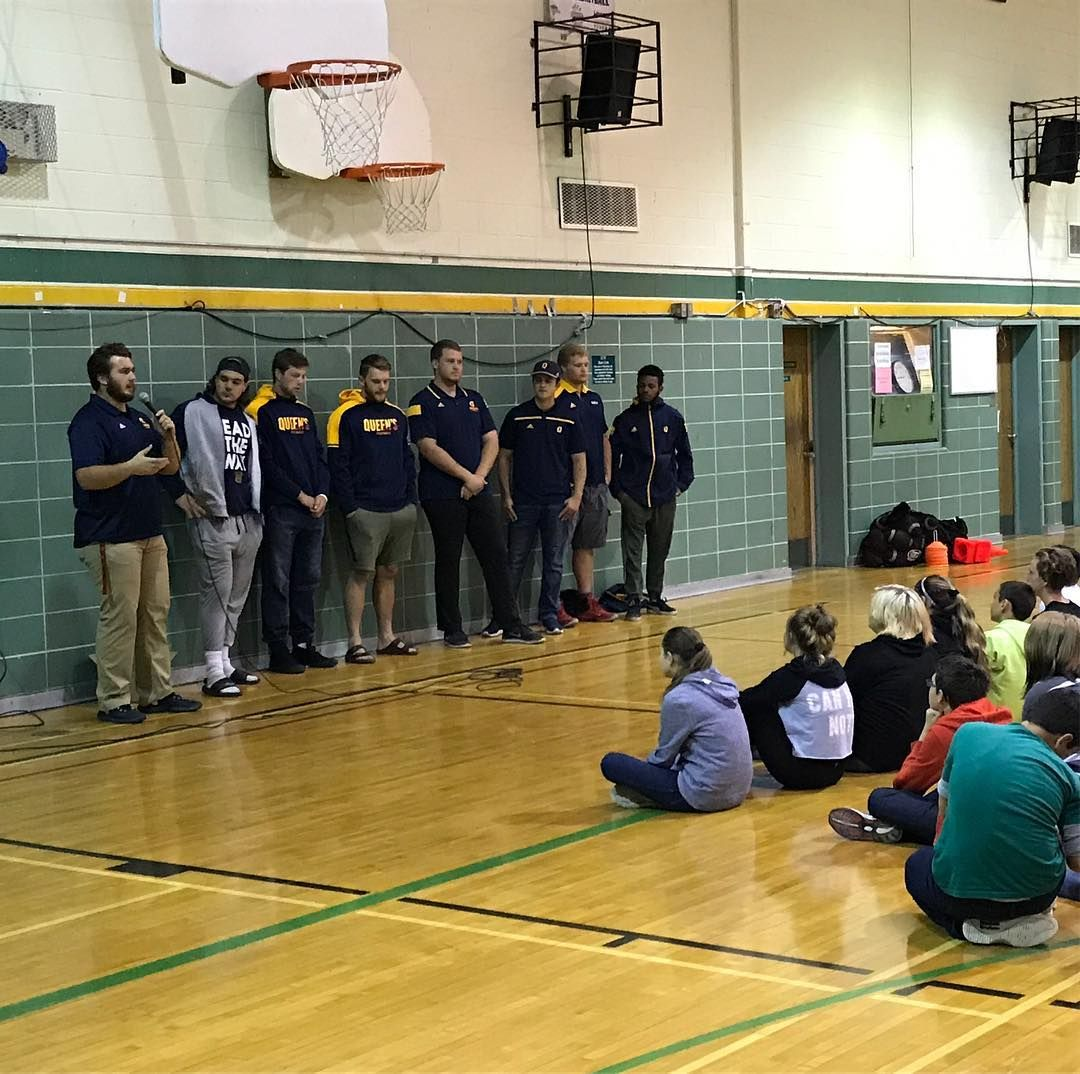Gaels Queensfootball Out In The Kingston Community Today Schooldayblitz Basketball Court Instagram Community