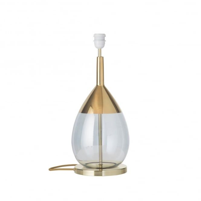 A Contemporary Hand Blown Topaz Blue Glass Table Lamp Base With Metallic  Gold Detailing And Gold Finished Plinth. This Is A Lamp Base Only And Doesu2026