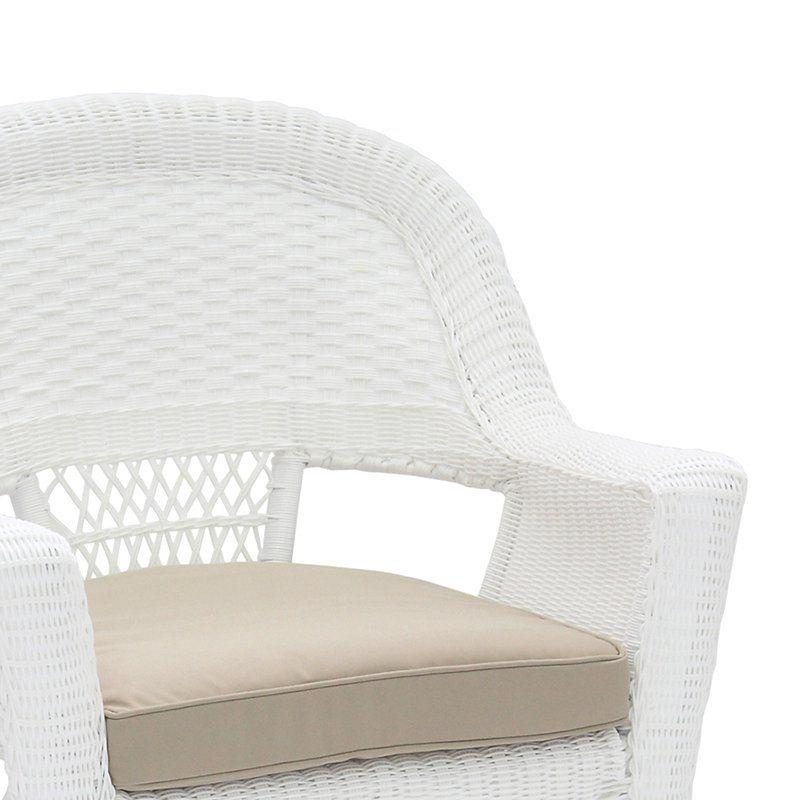 Outdoor Jeco Wicker Chair with Cushion White Orange - W00206_4-C-FS016-CS
