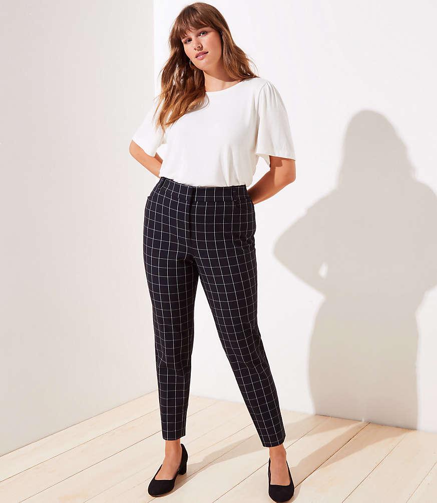 Shop LOFT for stylish women's clothing. You'll love our irresistible LOFT Plus Windowpane High Waist Skinny Ankle Pants - shop LOFT.com today! #loftclothes