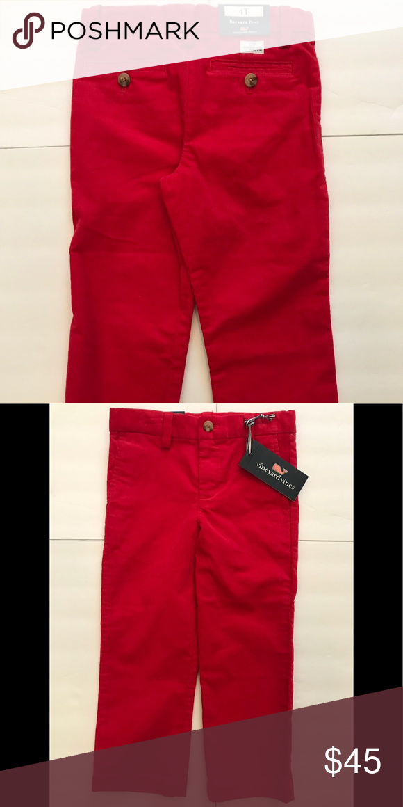 50% off factory outlet 100% quality quarantee NEW-Boy's VINEYARD VINES Red Breaker Pant 4T NEW w/Tag-Boy's ...