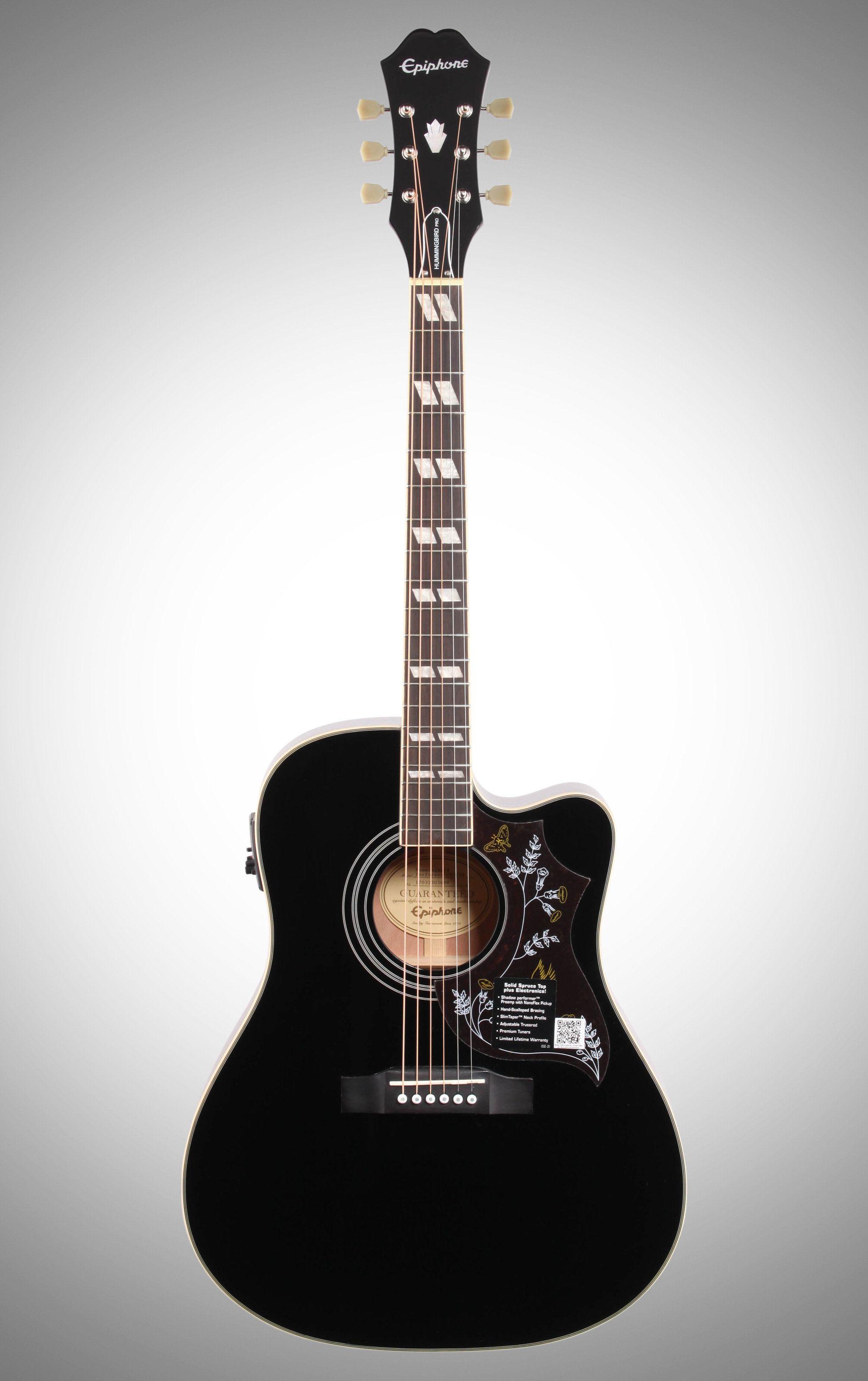 Epiphone Exclusive Hummingbird Pro Cutaway Acoustic Electric Epiphone Hummingbird Guitar