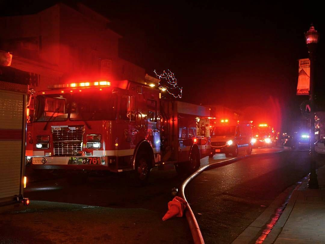 FEATURED POST  @firelinemedia -  Jamestown CA  12/24/16 - Firefighters battled a structure fire in a former residence built in the late 1800's. The building had been last used as an Antique Store.  ___Want to be featured? _____ Use #chiefmiller in your post ... . CHECK OUT! Facebook- chiefmiller1 Periscope -chief_miller Tumblr- chief-miller Twitter - chief_miller YouTube- chief miller .  #firetruck #firedepartment #fireman #firefighters #ems #kcco  #brotherhood #firefighting #paramedic…