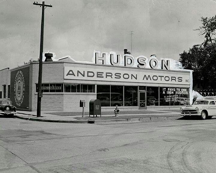 anderson motors inc old car dealership 60th st and 12th ave kenosha wi 1950s. Black Bedroom Furniture Sets. Home Design Ideas