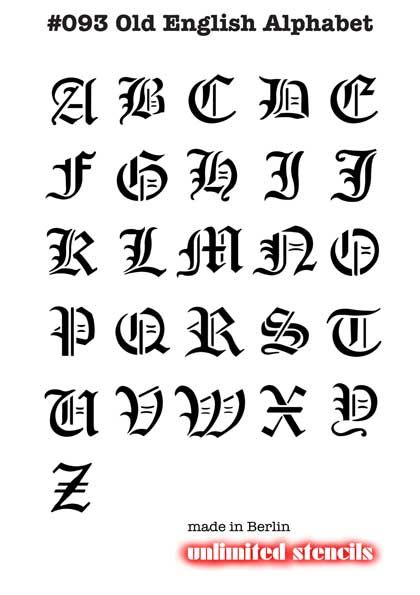 Tattoo Alphabet Alphabet Old English Capital