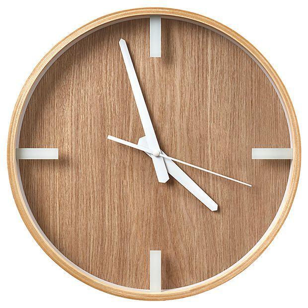 Scandi Timber Clock | Target Australia