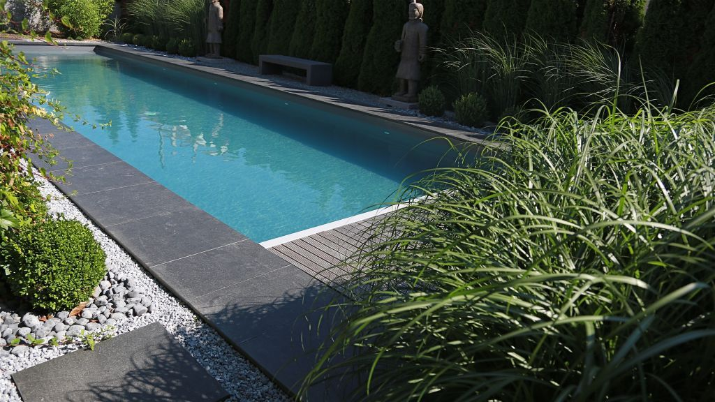 Photo margelles granite 0 65 x 0 65 piscine for Piscine zen