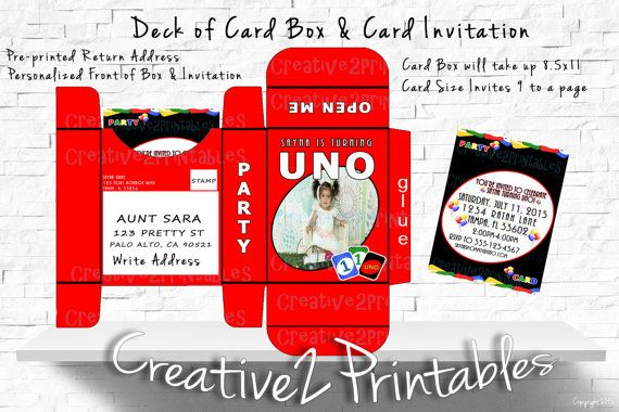 Pin by Creative2Printables on Uno Themed Birthday Party Ideas
