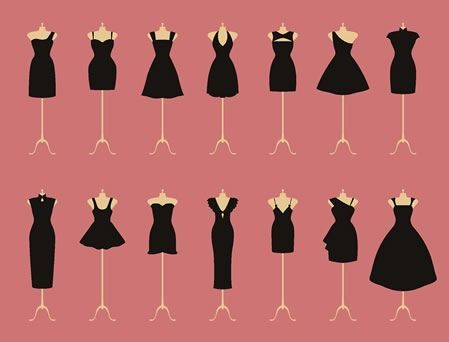 Guia de vestidos pretos...