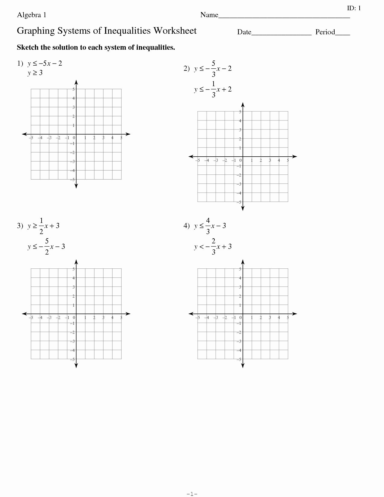 50 Graphing Linear Equations Practice Worksheet In