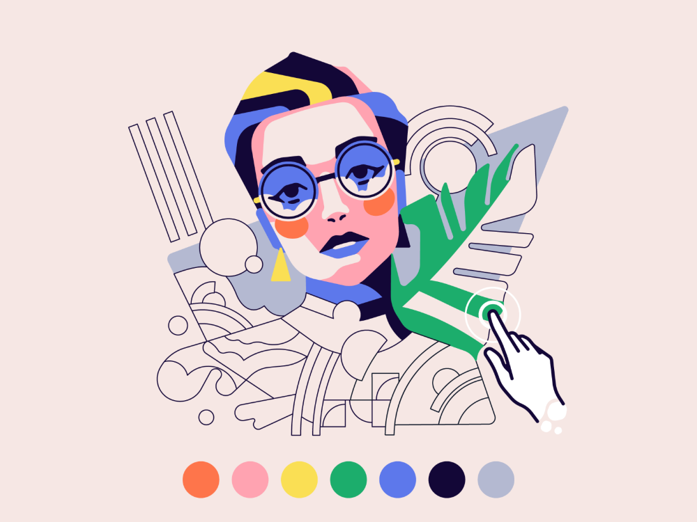 A Practical Guide To Working With Color In Digital Illustration In 2020 Website Color Schemes Coloring Books Illustration