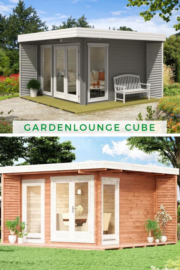 Gardenlounge Cube40 Das moderne Gartenhaus mit Flachdach