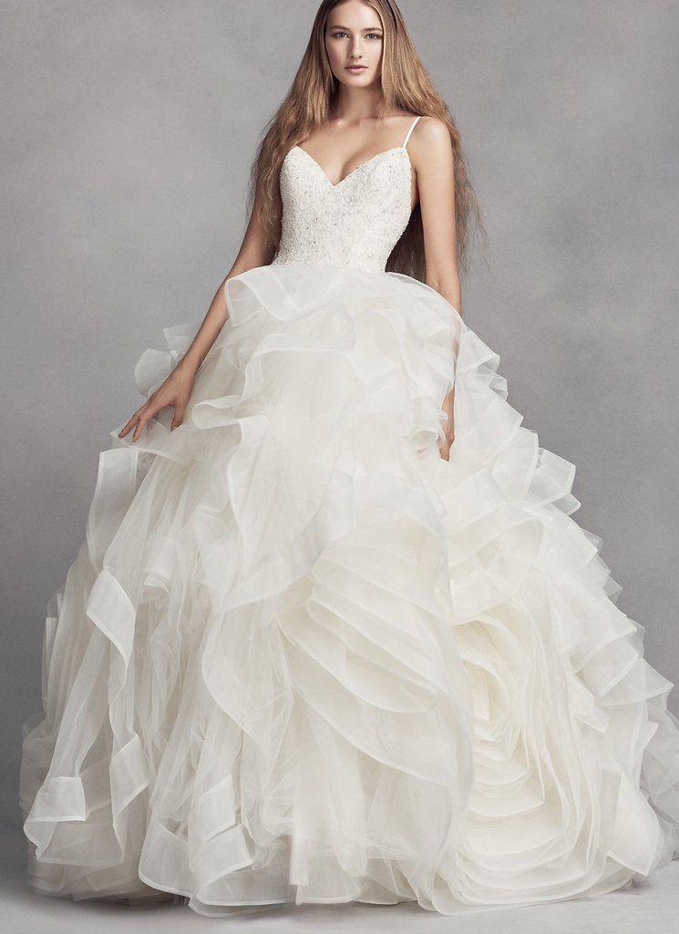 Vera Wang White Organza Rosette Wedding Dress Organza Ball Gowns Wedding Wedding Dress Styles