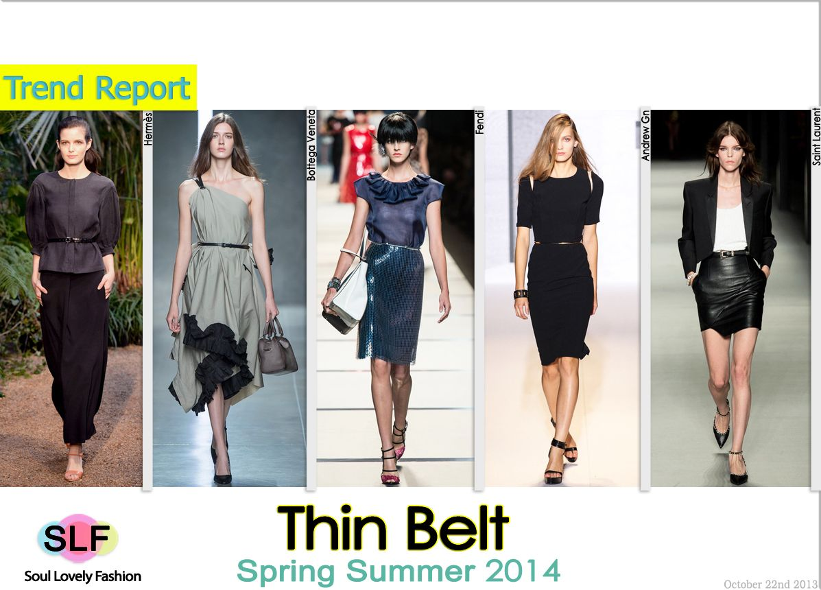 Thin Belt #Fashion Trend for Spring Summer 2014 #fashion2014 #spring2014 #trends #belt