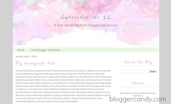 This is a gorgeous watercolor blogger template with stunning this is a gorgeous watercolor blogger template with stunning watercolor splash across the header area pronofoot35fo Gallery