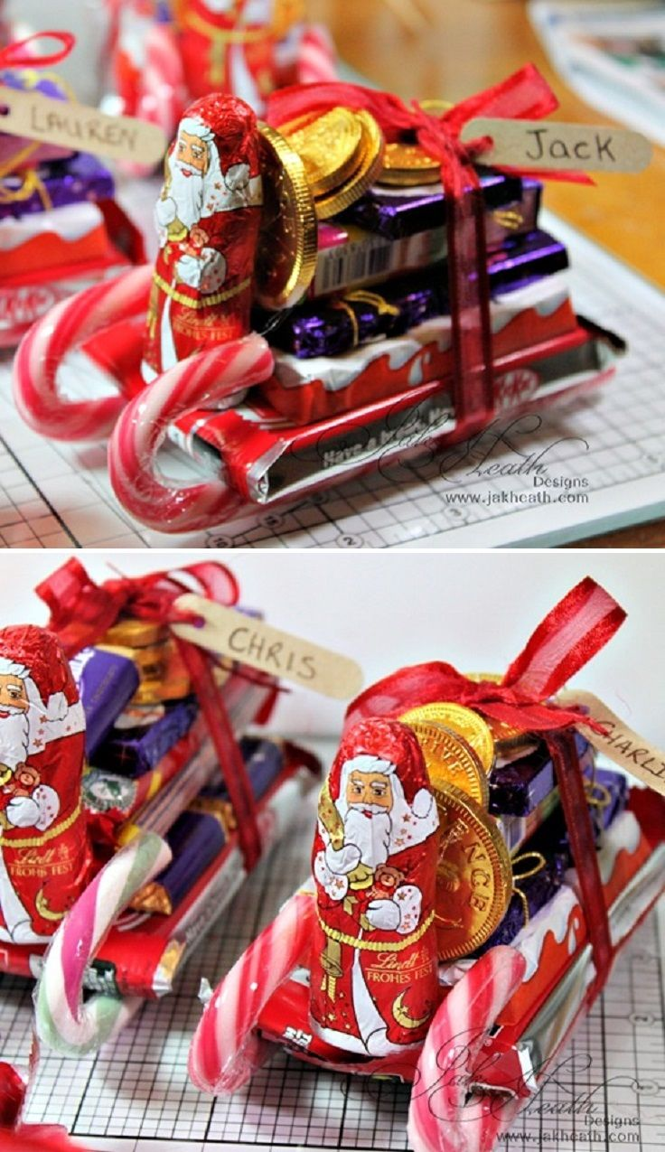 chocolate candy santa sleighs tutorial 12 wondrous diy candy cane sleigh ideas that will leave your kids open mouthed - Christmas Candy Sleigh