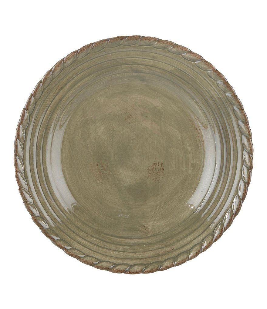 Artimino Tuscan Countryside Rope-Edged Stoneware Dinner Plate ...