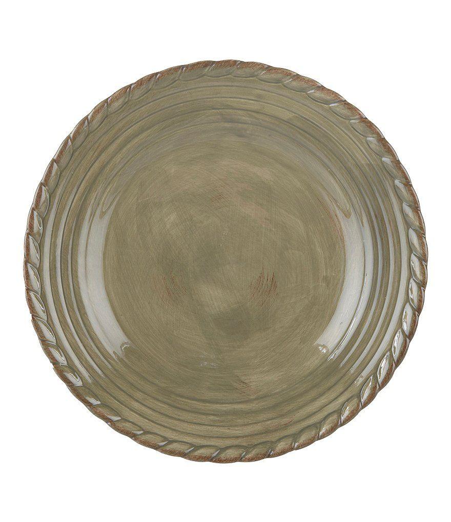 Artimino Tuscan Countryside Rope-Edged Stoneware Dinner ...