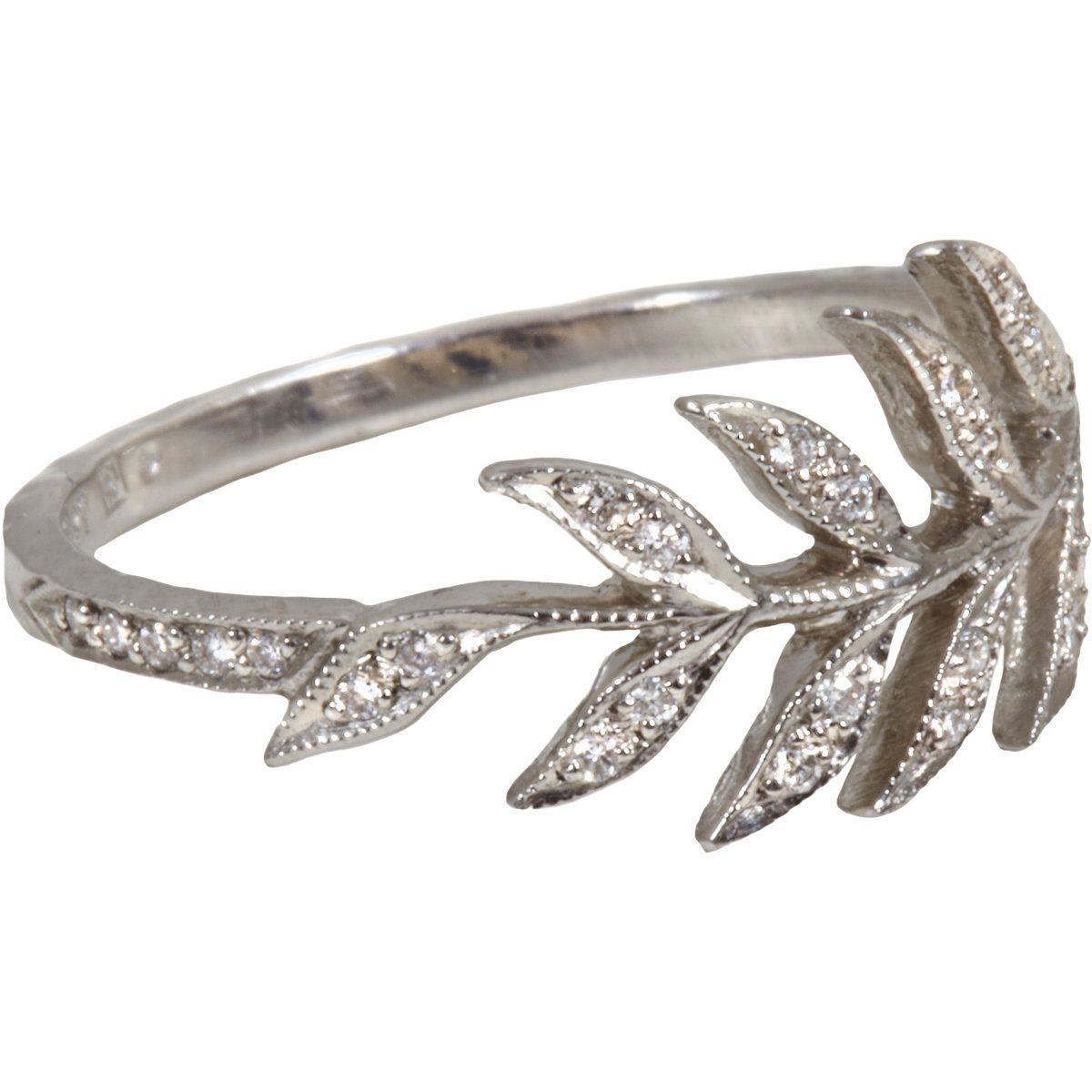 Cathy Waterman Diamond Wheat Sheaf Ring At Barneys