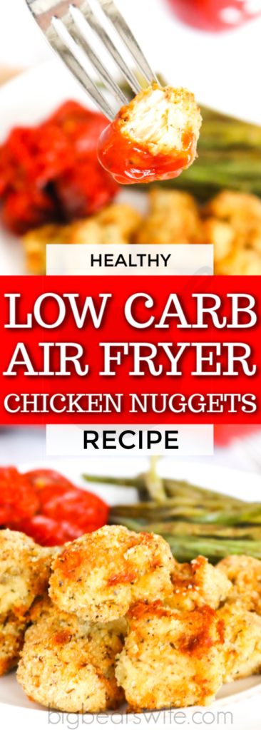 These tasty and Healthy Low Carb Air Fryer Chicken Nuggets