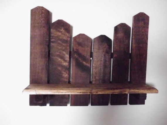 Primitive Picket Shelf Made With Reclaimed Wood By Joannie S Country Eclectic Wall Shelves Etsy For The Home Decorating Pinterest