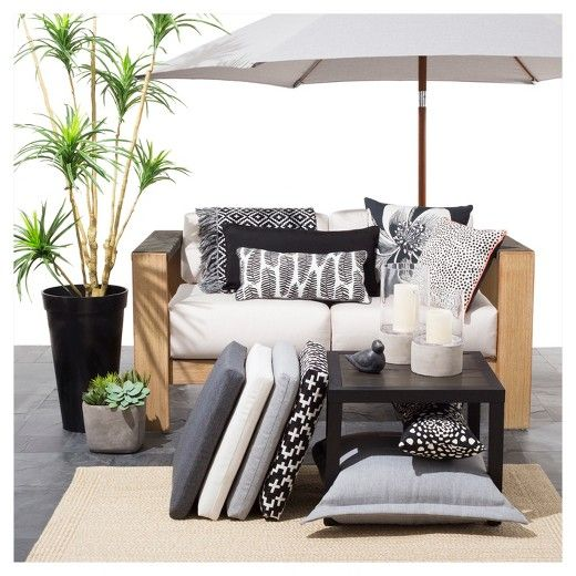 Target Black And White Patio Style Theme Let Greenery And
