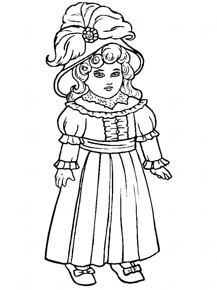 Image detail for -coloring page antique doll coloring page ...