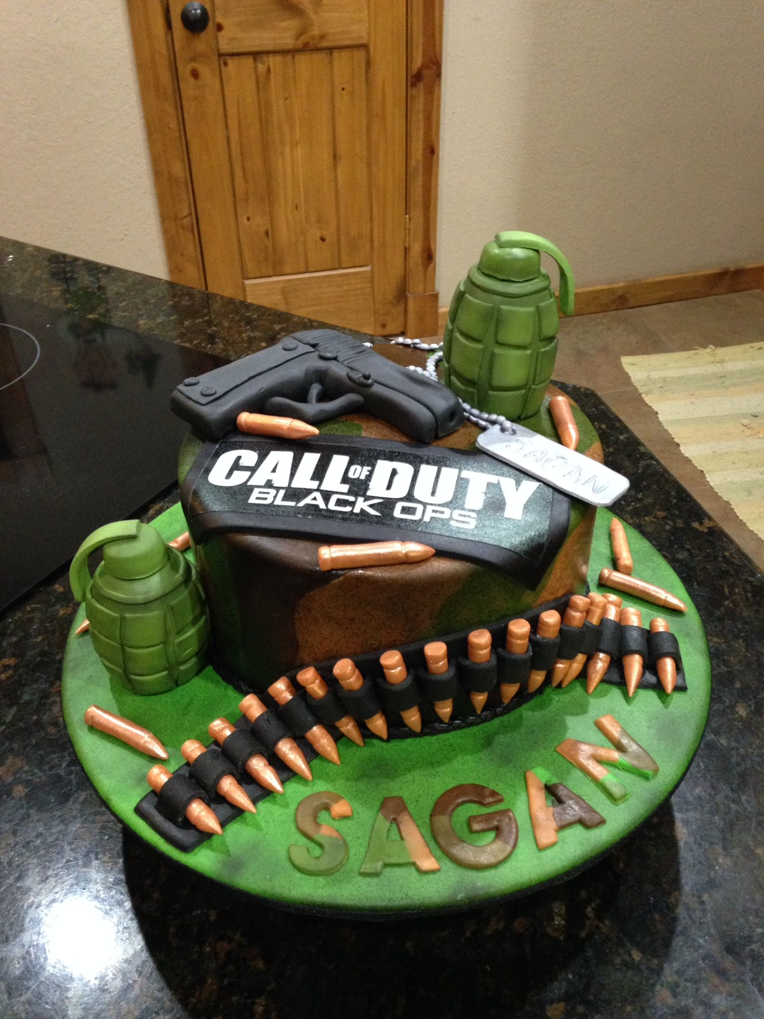 Call of Duty cake all decorations edible. Www.facebook