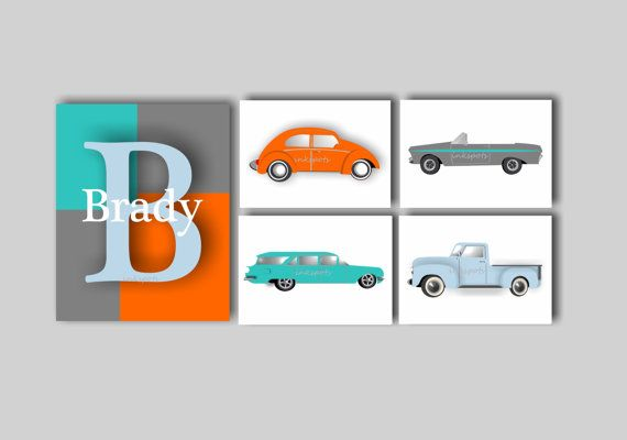 Transportation Nursery Art Baby Boy Nursery Car Bedding