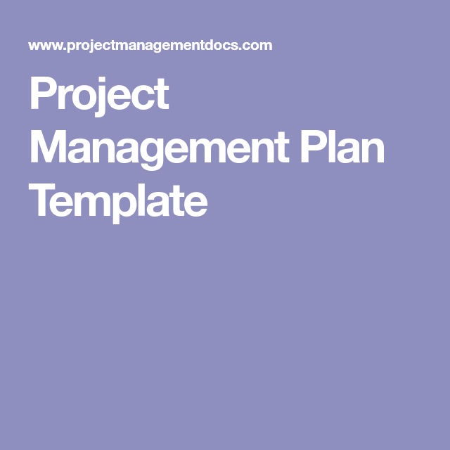 Project Management Plan Template  Career And Work