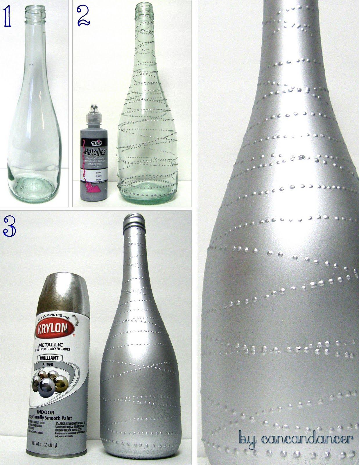 Can Can Dancer Bottles to Vases Bottles Pinterest