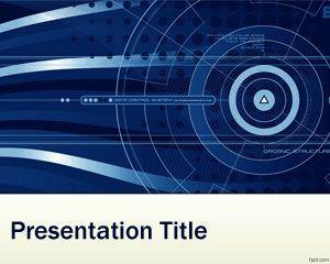 La plantilla PowerPoint de nanotecnología es un diseño de