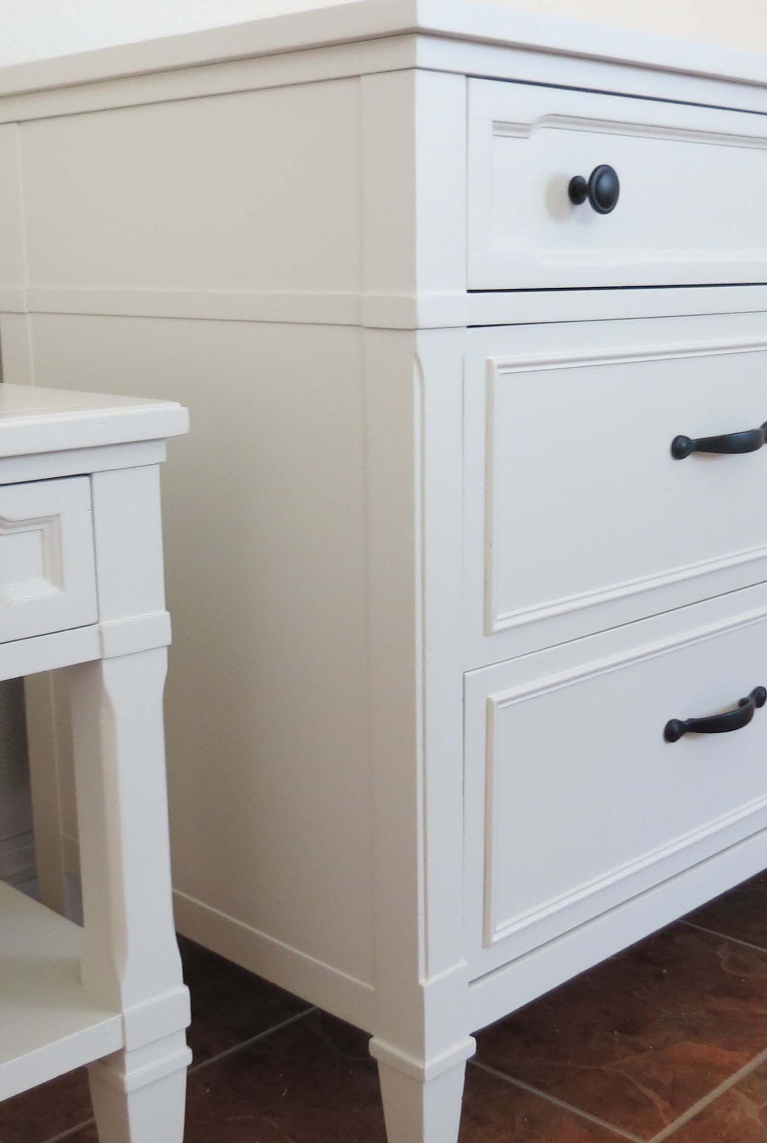 Drexel Dresser Set Refinished in White - Painted Furniture Ideas #furnitureredos