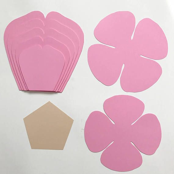 Paper Flowers -SVG Petal #81 Paper Flower template with Center ...