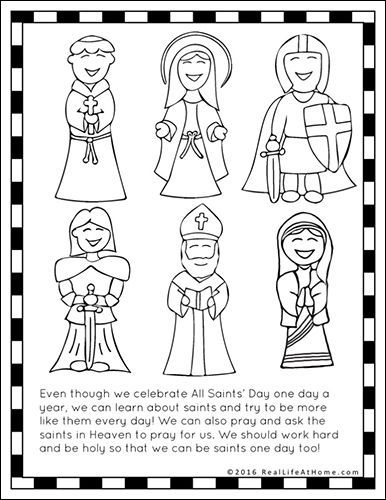 All Saints Day Worksheets - Rcnschool