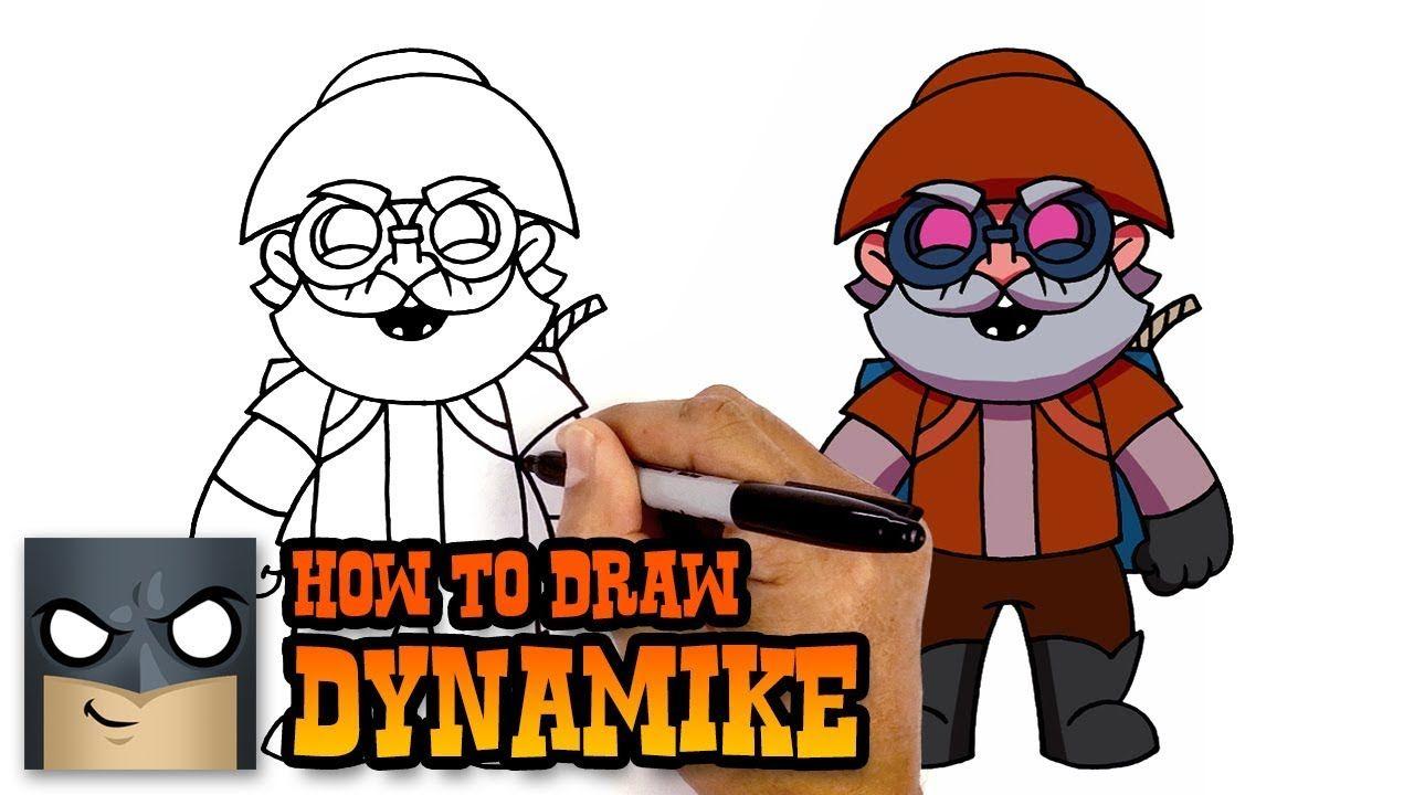 How to Draw Dynamike Brawl Stars Awesome StepbyStep