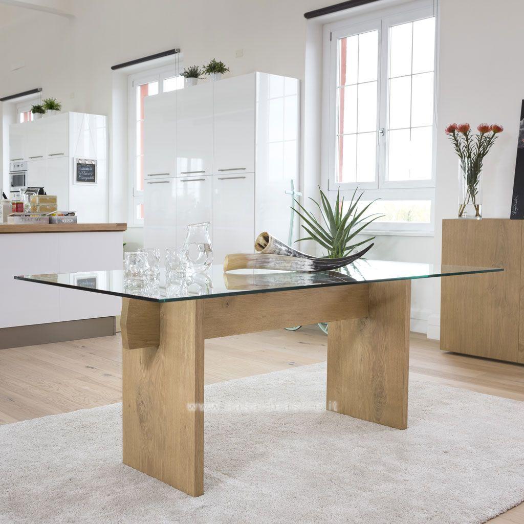 Tavolo Moderno In Legno E Vetro Tavolo moderno, Idea di