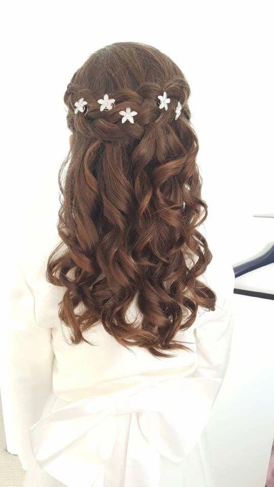 Flower Girl Hair Inspiration Peinados De Comunion Niña Peinados Niña Pelo Largo Peinados Primera Comunion
