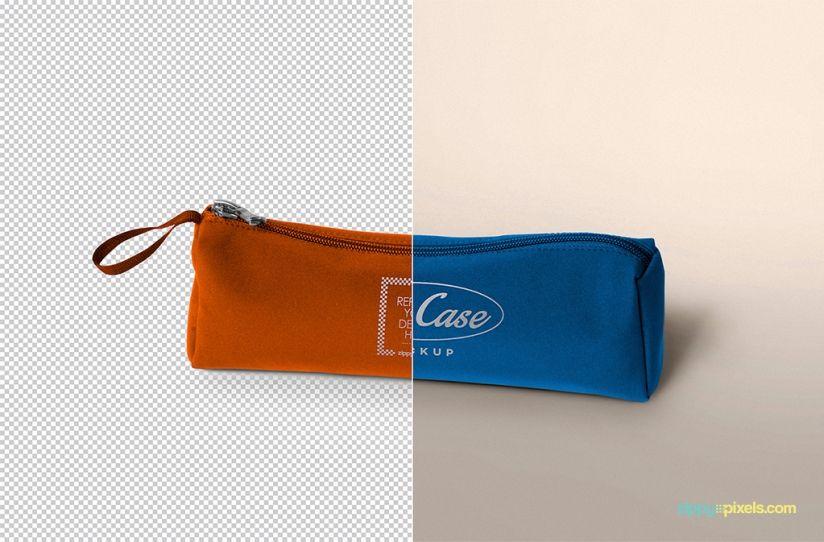 Download Free Pencil Case Mockup Zippypixels Bag Mockup Pencil Case Logo Color