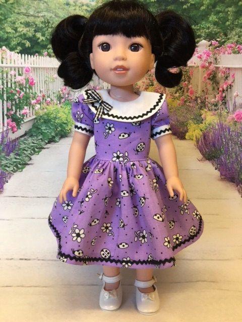 Ladybug Dress fits Wellie Wishers 15 1/2 inch dolls | Dolls | Pinterest